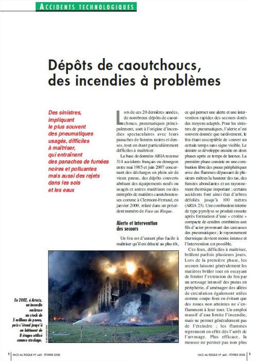 Dépôts De Caoutchouc : Des Incendies à Problèmes