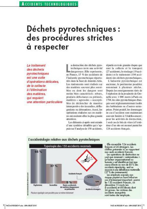 Déchets Pyrotechniques : Des Procédures Strictes à Respecter