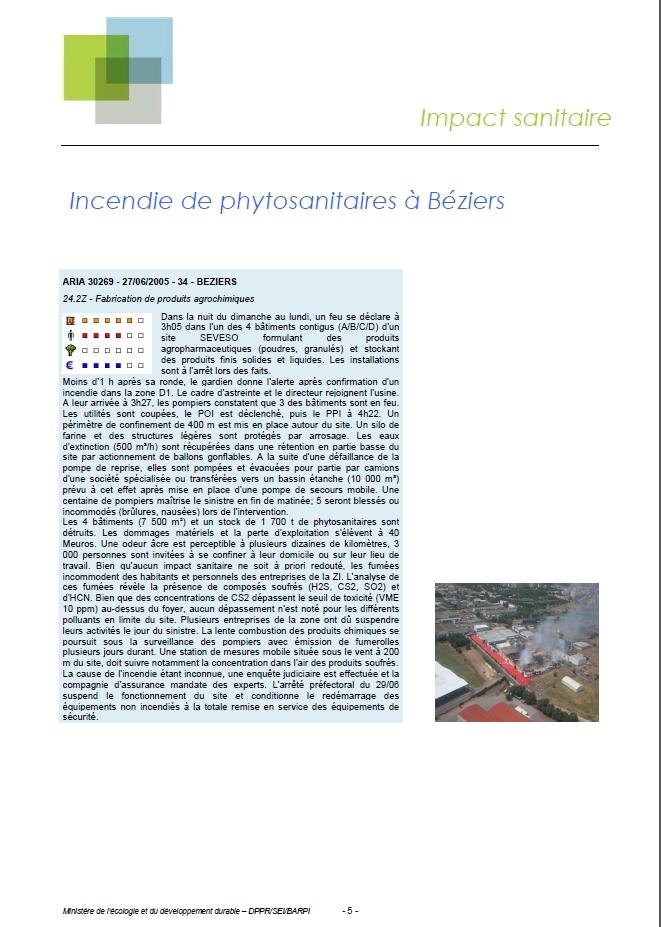Accidentologie Associée Aux Phytosanitaires