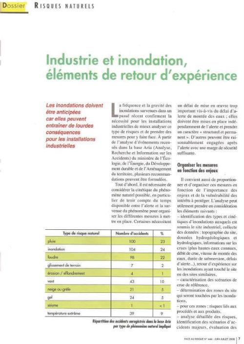 Industries Et Inondations