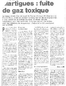 Emission De Vapeurs D'HCl