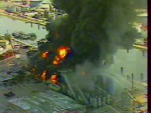 Incendie Du Port Edouard Herriot