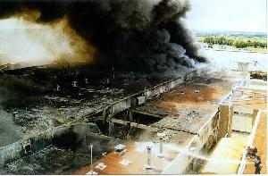 Incendie D'une Charcuterie Industrielle.