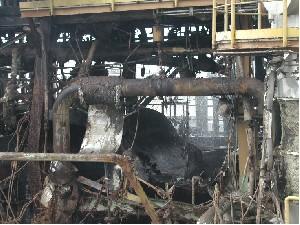 Explosion Suivie D'un Incendie Dans Une Usine Chimique