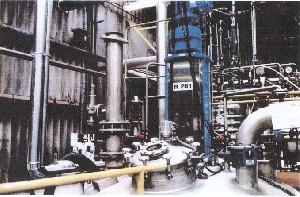 Ouverture D'un Disque De Rupture Sur Un Réacteur Chimique