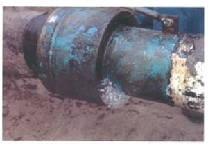 Fuite D'hydrogène Enflammée Sur Un Pipeline.