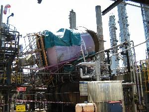 Explosion Of A Sulphuric Acid Tank