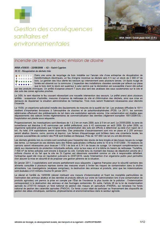 Gestion Des Conséquences Sanitaires Et Environnementales
