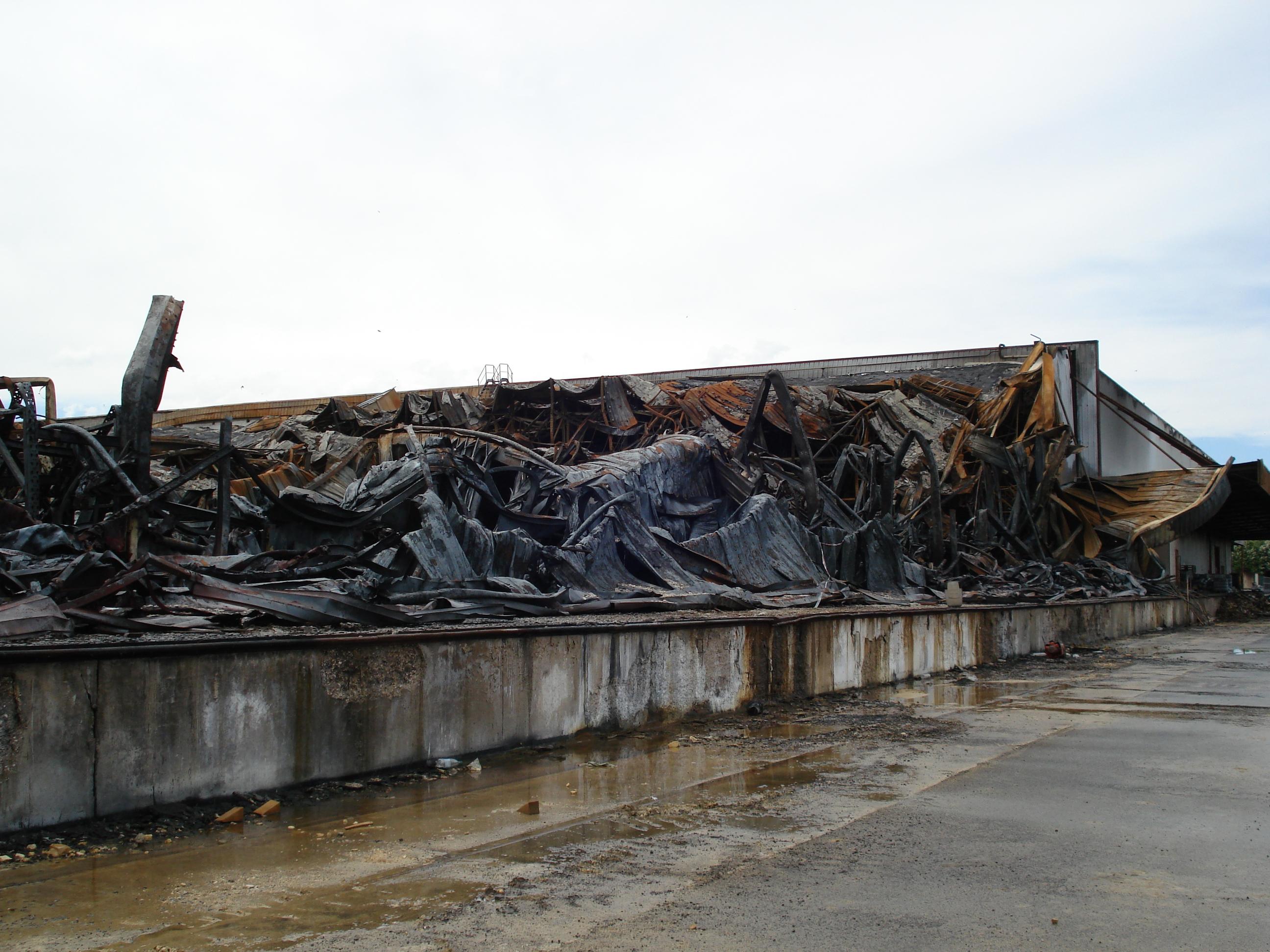 Incendie Dans Un Entrepôt