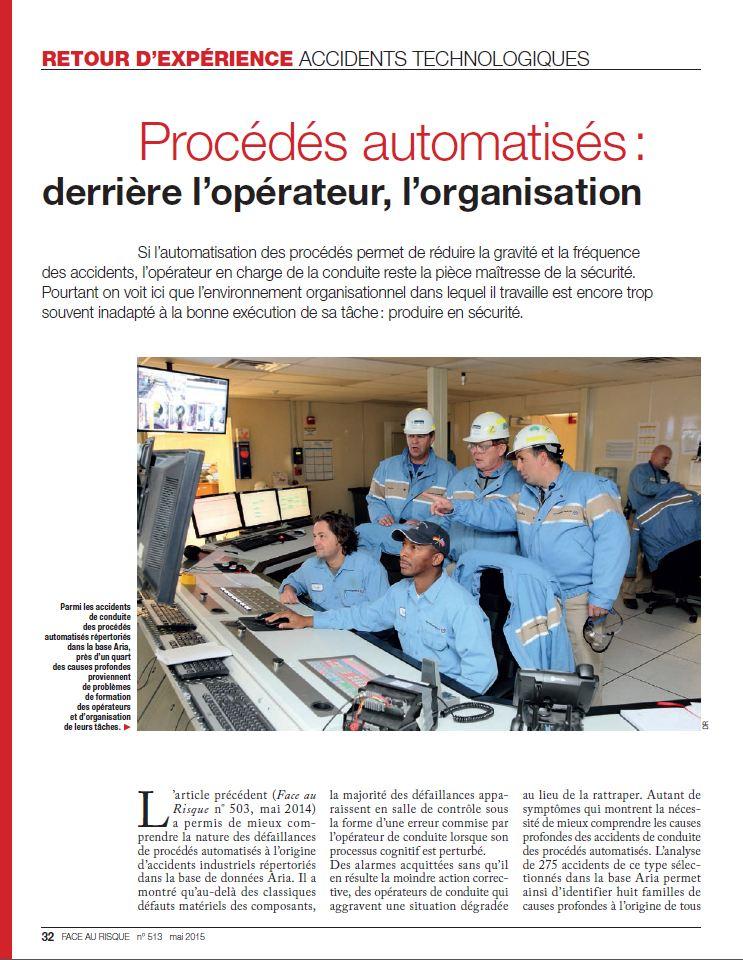 Procédés Automatisés : Derrière L'opérateur, L'organisation