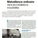 Malveillance Ordinaire Dans Les Installations Industrielles