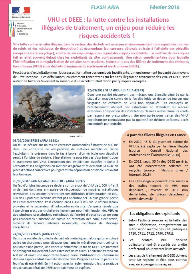 VHU Et DEEE : La Lutte Contre Les Installations Illégales De Traitement, Un Enjeu Pour Réduire Les Risques Accidentels !