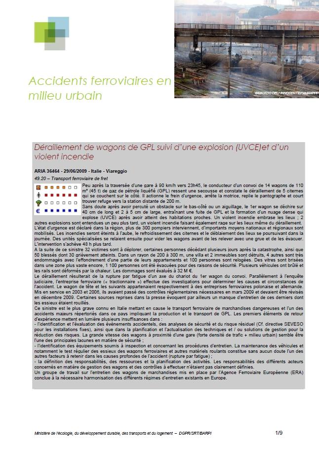 Accidents Ferroviaires En Milieu Urbain