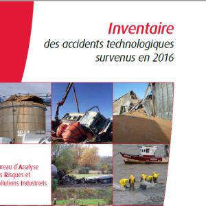 Inventaire Des Accidents Technologiques Survenus En 2016