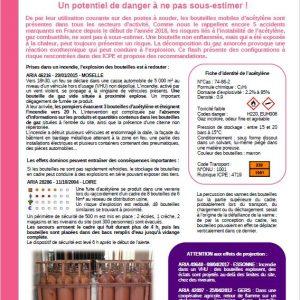 Bouteilles Mobiles D'acétylène: Un Potentiel De Danger à Ne Pas Sous-estimer!