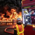 Incendie Dans Une Usine Chimique