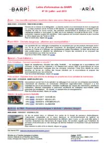 Lettre D'information Du BARPI N° 59 – Juillet/août 2019