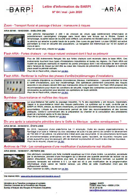 Lettre D'information N° 64 / Mai – Juin 2020