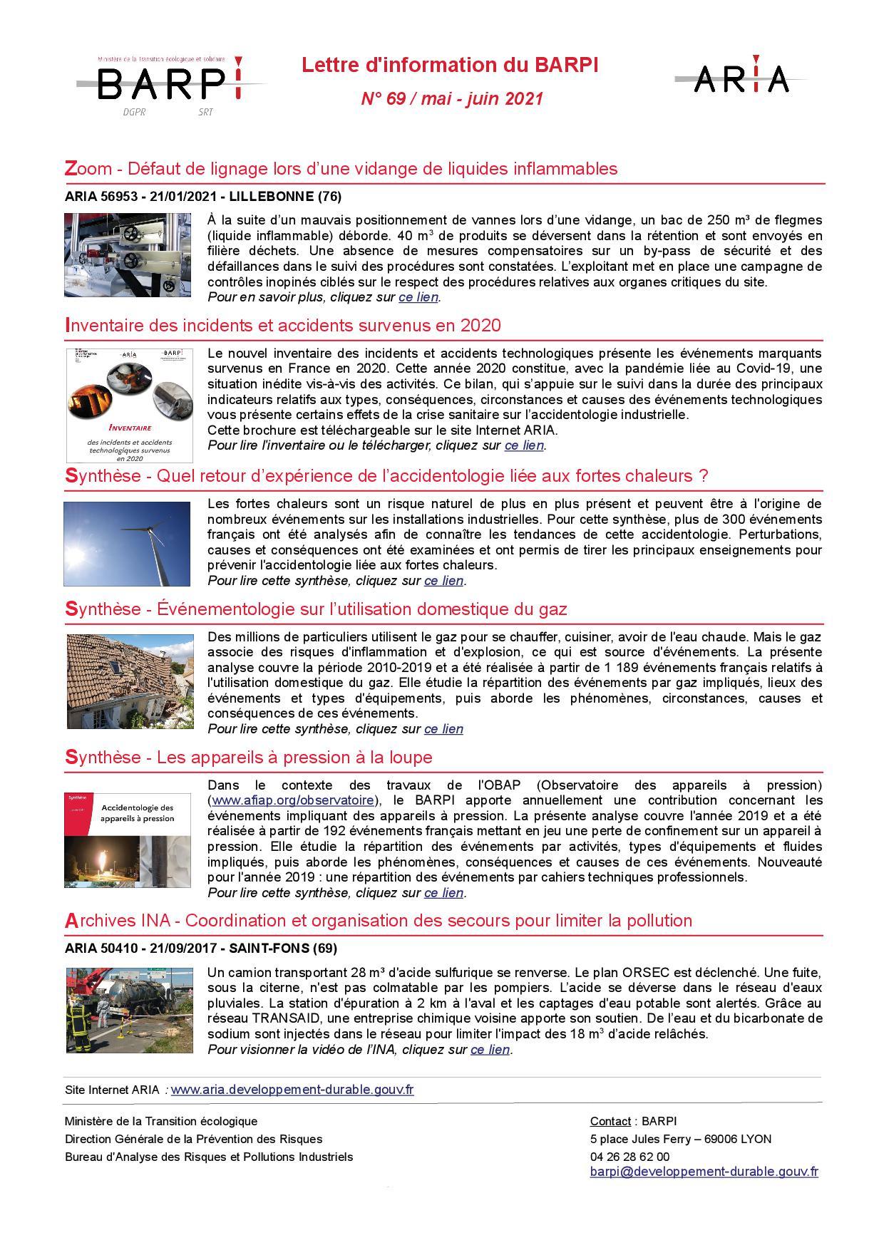 Lettre D'information N° 69 / Mai – Juin 2021